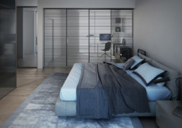 Render camera da letto - appartamento di pregio ancona Domus Passetto