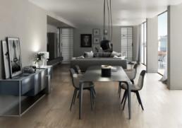 soggiorno tavolo - appartamento di lusso ancona Domus Passetto