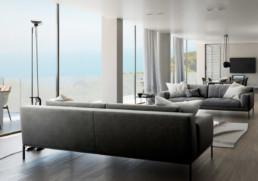 salotto - appartamento di prestigio ancona Domus Passetto