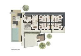 planimetria pianta piano terra residenza di lusso sirolo ancona