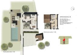 planimetria pianta appartamento A residenza di lusso sirolo ancona