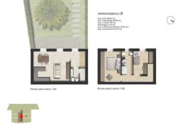 planimetria pianta appartamento B residenza di pregio sirolo ancona