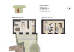 planimetria pianta appartamento C residenza di prestigio sirolo ancona