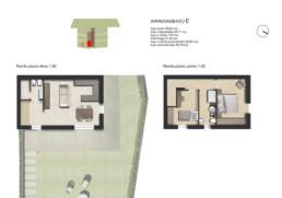 planimetria pianta appartamento E residenza di lusso sirolo ancona